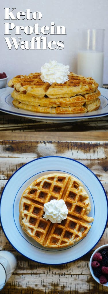This Keto Protein Waffle Recipe is the perfect after dinner, guilt free snack that will satisfy your sweet tooth cravings!