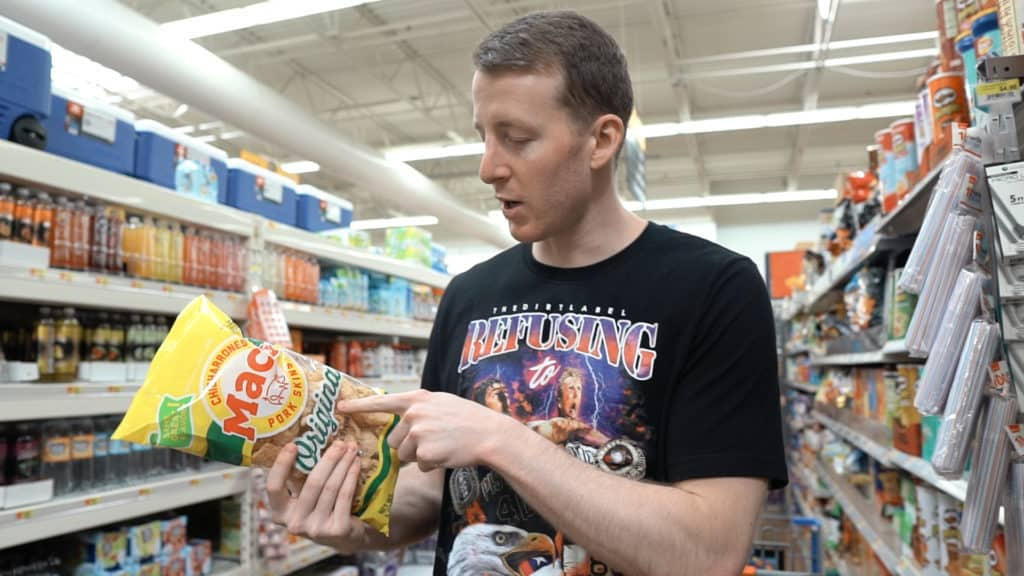 Mac's Brand pork rinds only have two ingredients, fried pork skins and salt! Compared to other options that are fried in some sort of vegetable oil, or soybean oil these are a much better option for keto!