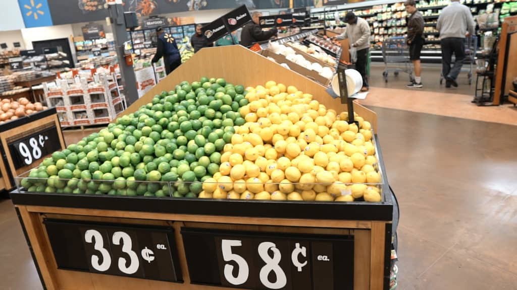Walmart's produce section is not the best. Their produce is cheap, but lower quality compared produce sold elsewhere.