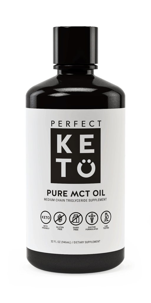 Perfect Keto MCT oil gives you a quick burst of energy. Most people think MCT oil is a must have keto supplement, but it is not. MCT oil just converts to energy faster than any other fat.
