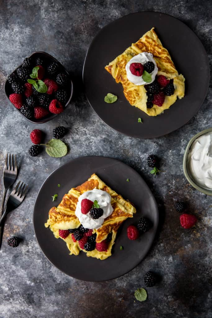 This Sweet Healthy Omelette puts a spin on breakfast with a touch of sweetness and some berries! Keto Omelette's can be filled with many things like berries and cream, cinnamon and erythritol, or even sugar free syrup and nuts! ealthy Omelette puts a spin on breakfast with a touch of sweetness and some berries! Keto Omelette's can be filled with many things like berries and cream, cinnamon and erythritol, or even sugar free syrup and nuts!