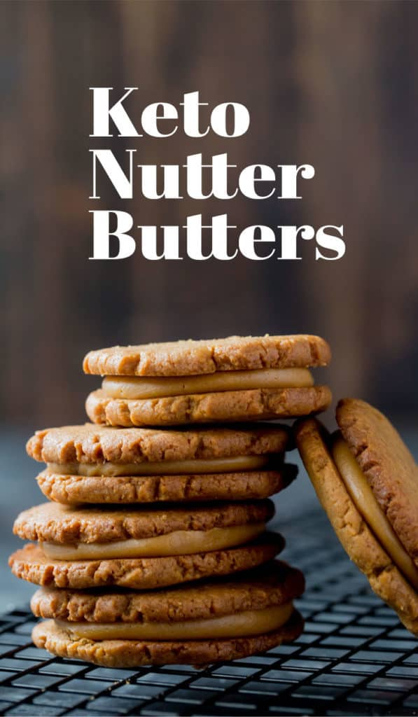 Our Keto Peanut Butter Cookies are the perfect low carb replacement for nutter butters and great for packing in your kids lunch boxes!