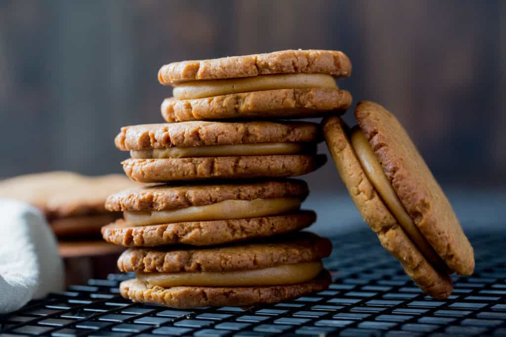 Stack of keto cookies