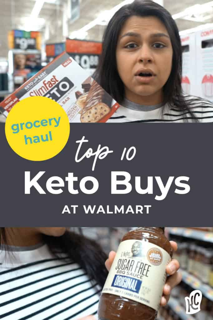 Keto Grocery haul from Walmart and Top 10 Keto Foods to buy at Walmart.