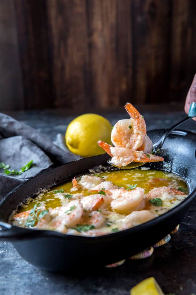Our low carb creamy shrimp scampi is quick to whip up and hits all the right flavor notes!