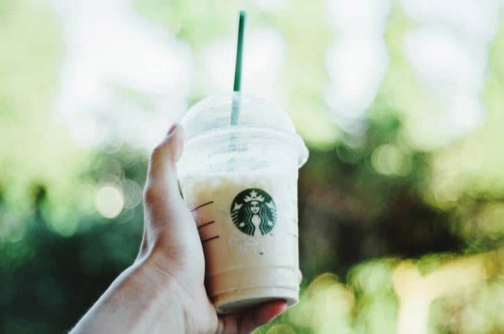 iced frappe green background