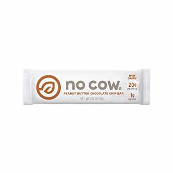 white bar packaging with large lettering reading no cow
