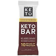 perfect keto bar in package with a white background