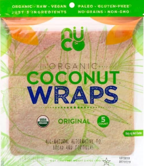 coconut wraps made by nuco review