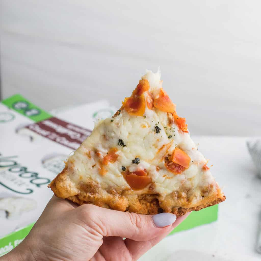 Realgood Foods Cauliflower Crust Pizza is a delicious and convenient keto pizza.