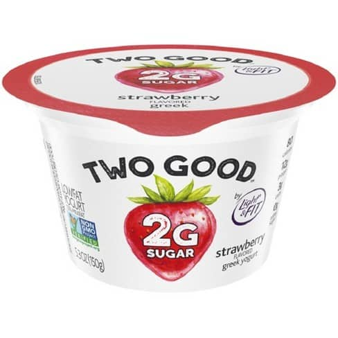 Two Good yogurt is a tasty low carb choice and is a perfect keto pregnancy snack.
