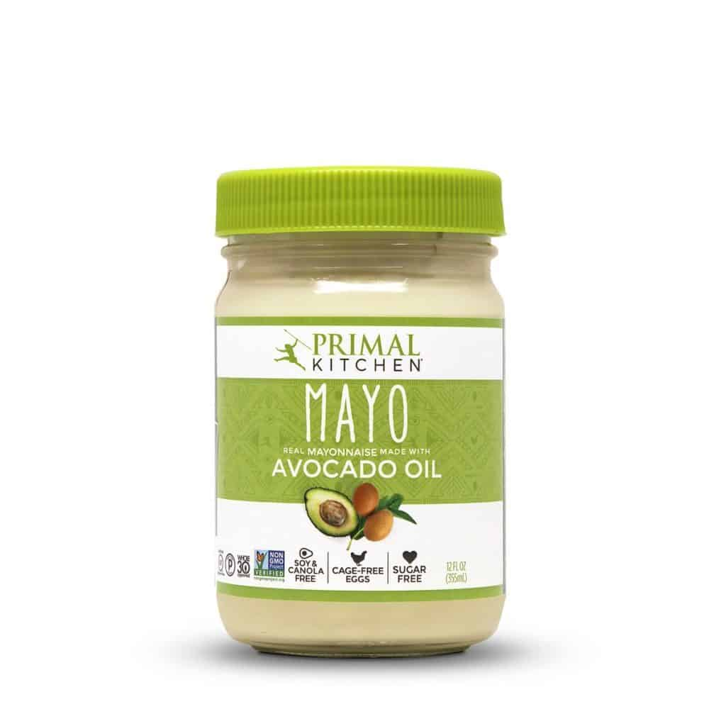 Primal Kitchen mayonnaise and salad dressing uses avocado oil and no refined seed oil. Perfect for all sorts of keto recipes or a low carb salad!