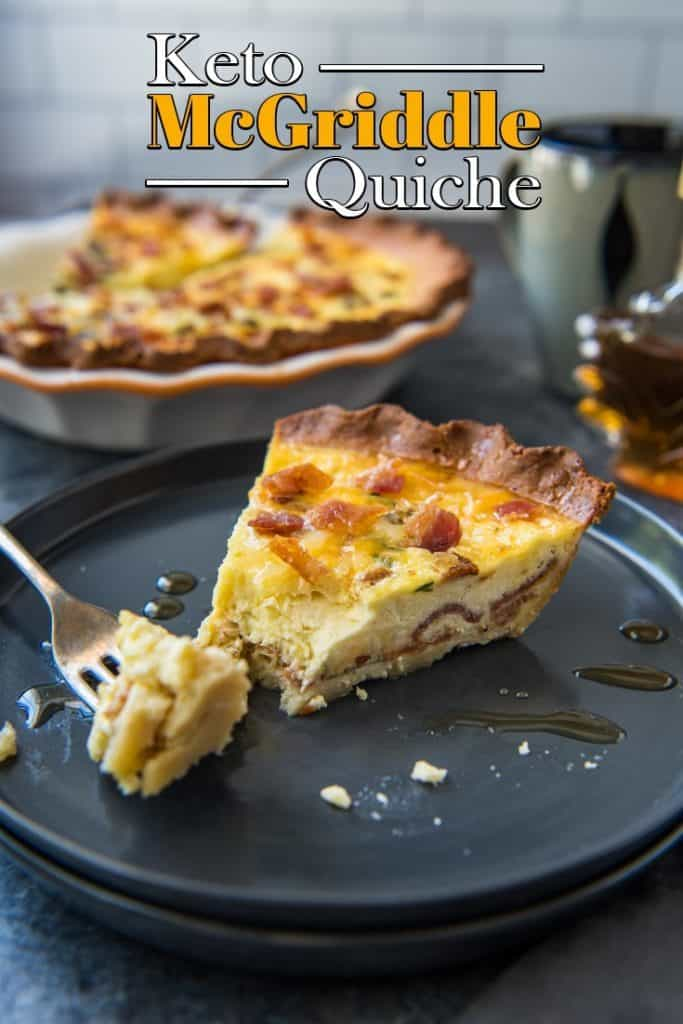 Our Keto Quiche combines a creamy filling and a sweet crust for the perfect remake of everyones favorite breakfast sandwich, the McGriddle from McDonalds's!