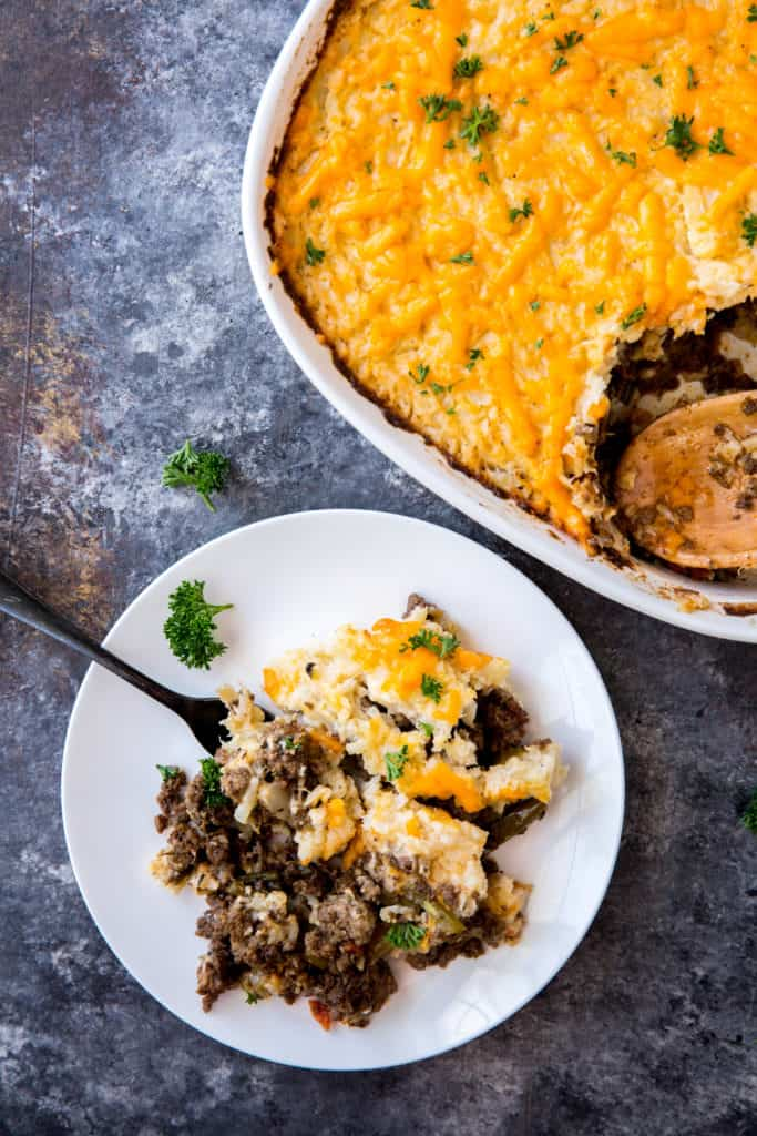 This Keto Shepherd's Pie takes a classic, delicious dish and puts a low carb spin on it to satisfy your comfort food needs!