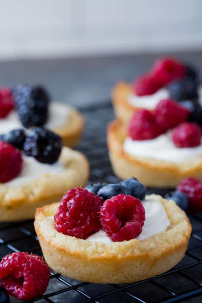 Keto Sugar Cookies Berries And Cream