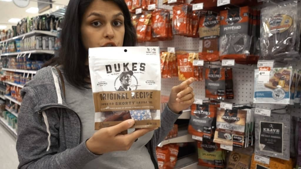 Duke's meats are delicious smoked sausages and provide lots of energy. These can be found at target year round!