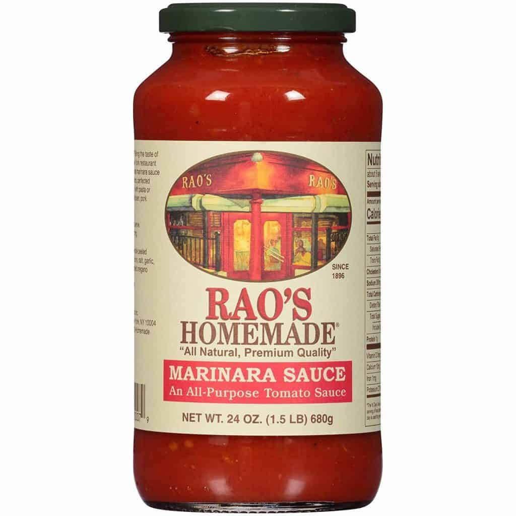 Rao's marinara sauce is a tomato sauce with no added sugar. Perfect to combine with low carb pasta for spaghetti.