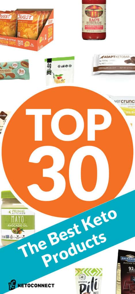 The best keto products are convenient, high quality, and delicious. Check out our Top 30 Best Keto Products list for our favorite low-carb items.
