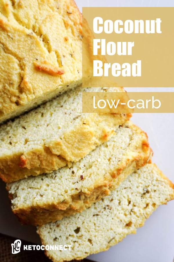 A versatile coconut flour bread recipe that's low in carbs and easy to make. Go sweet or savory and enjoy bread on your low-carb diet.