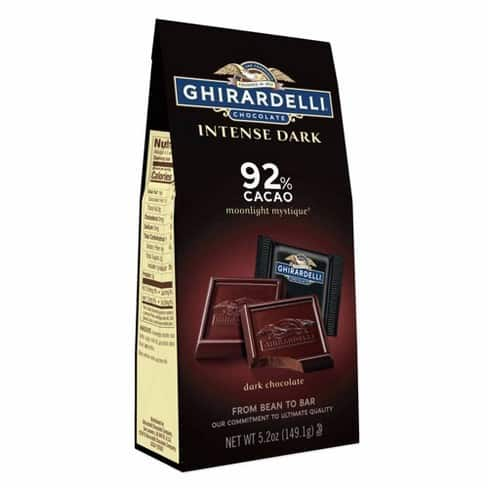Ghirardelli intense dark chocolate squares are a perfect sweet treat to quickly grab