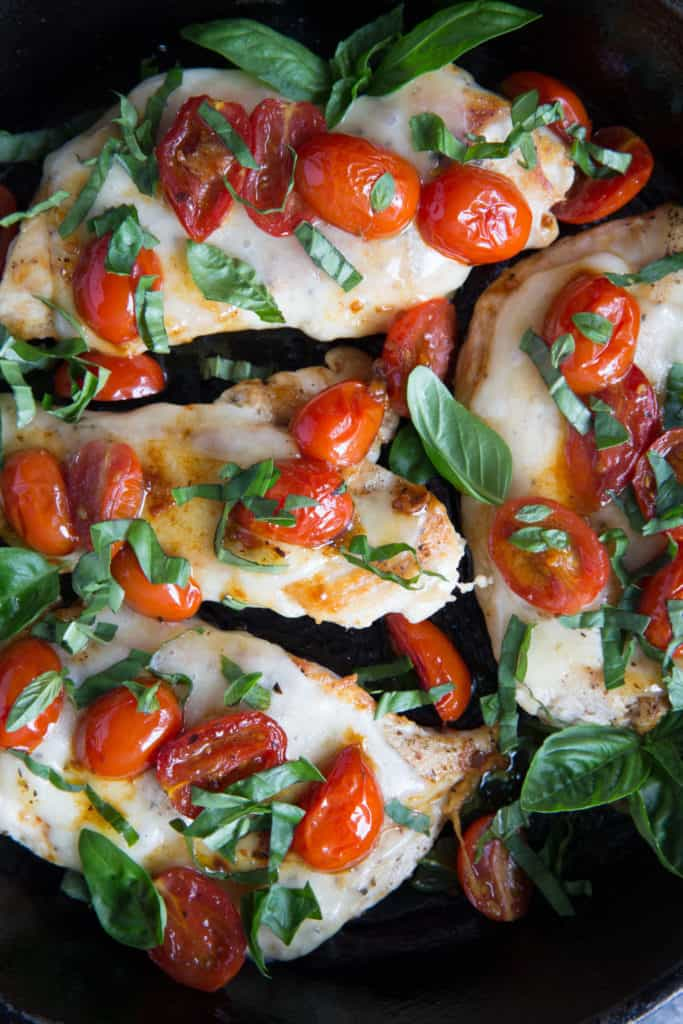 This Gorgeous Keto Chicken Caprese recipe is loaded with fresh vegetables and tons of flavor!