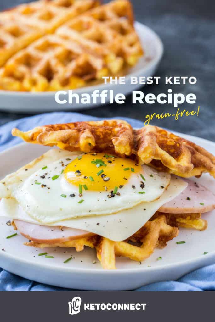 Crispy Keto Chaffles made with just two ingredients