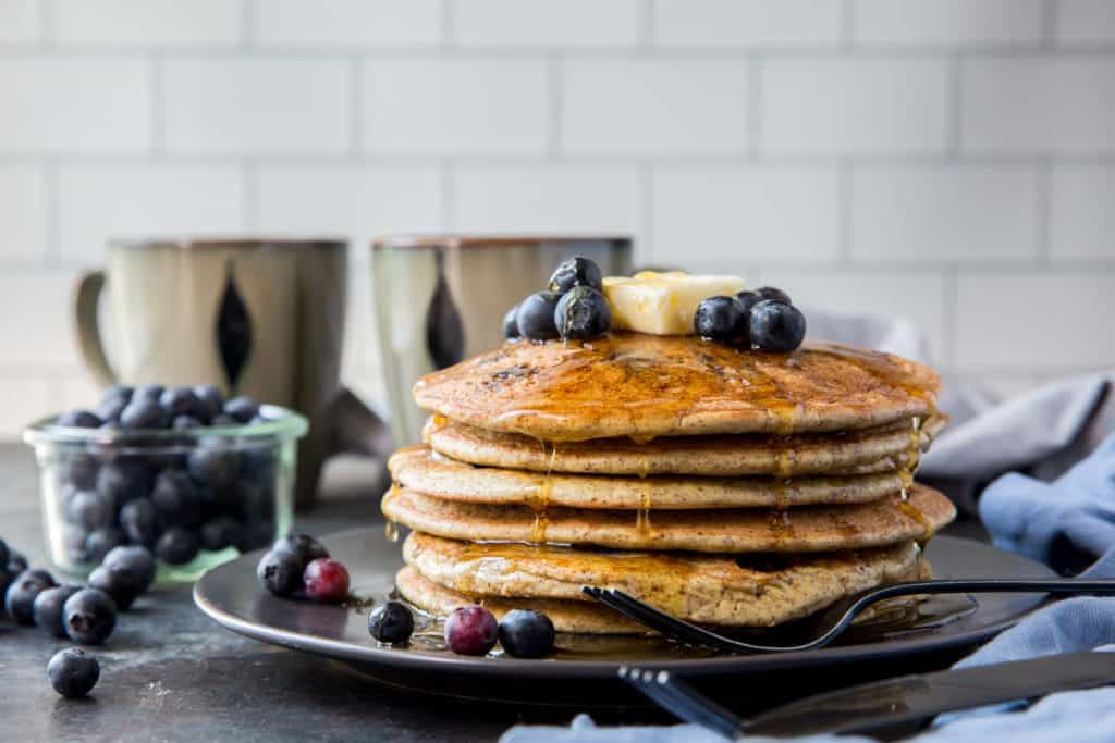 blueberry pancakes with butter