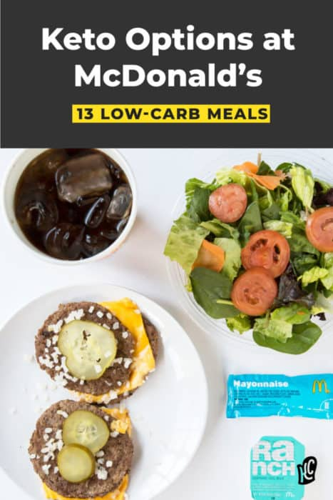 13 keto meals you can order from McDonald's.