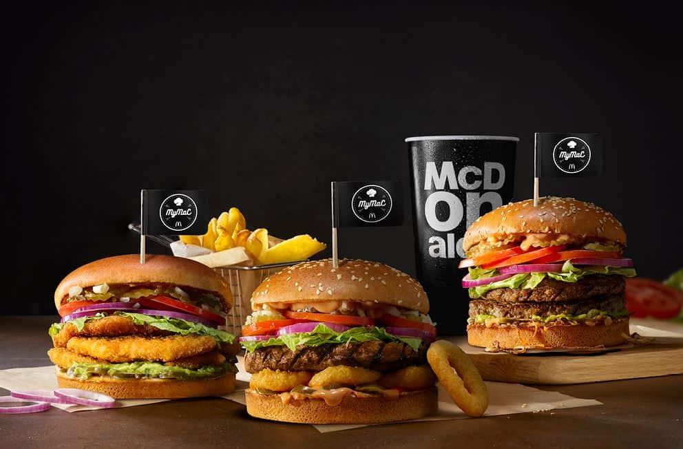 all the different hamburgers at mcdonalds