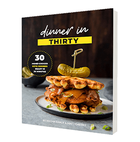 Dinner in 30 Keto Recipe eBook