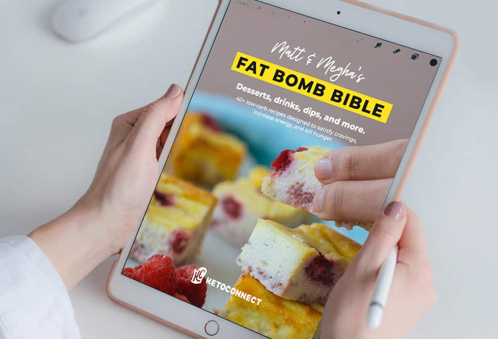fat bomb bible ebook being viewed on a tablet