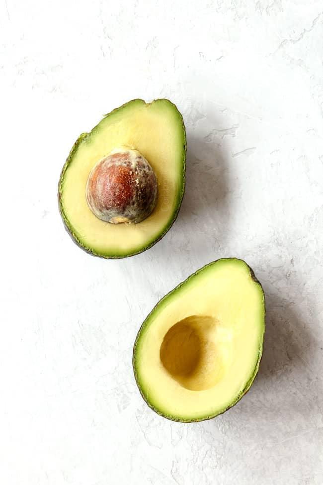 avocado from trader joes sliced in half