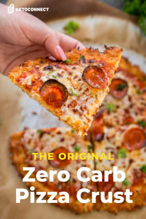 the original zero carb pizza crust with toppings