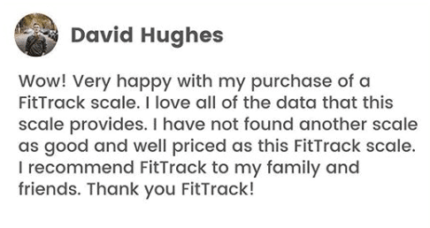 fittrack body fat scale review by a user on instagram