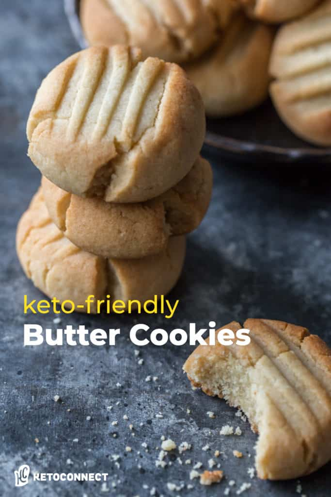 Pin for keto-friendly butter cookies