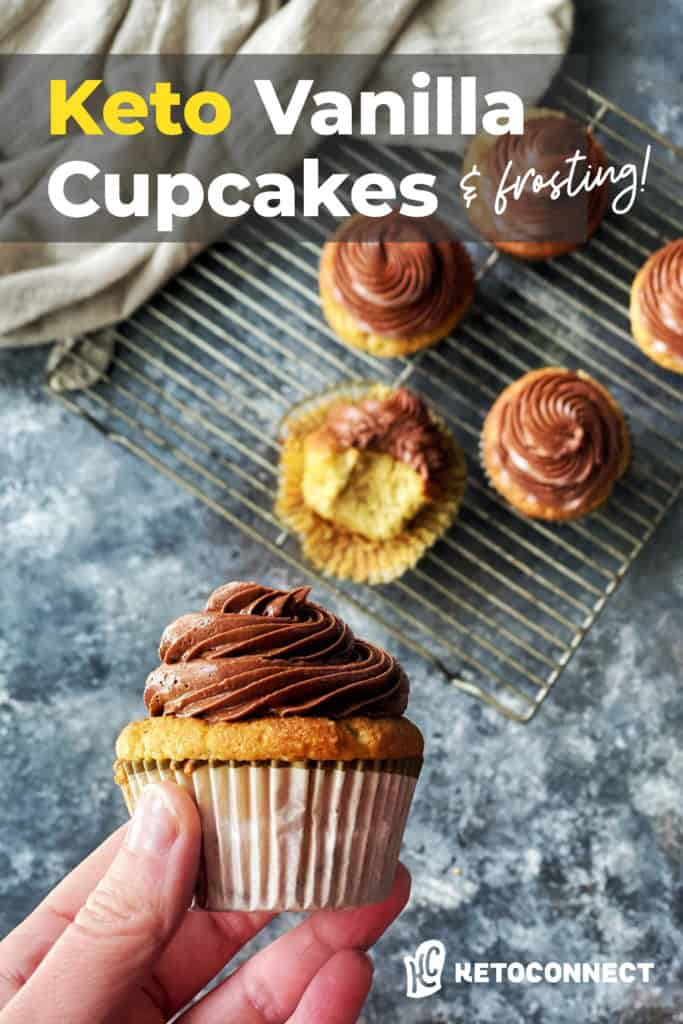 hand holding a finished cupcake