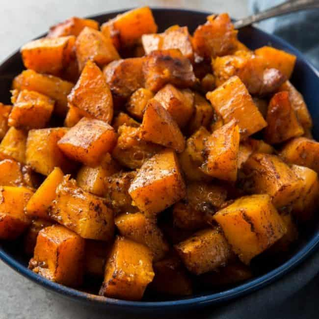 butternut squash keto recipe served for dinner in a bowl