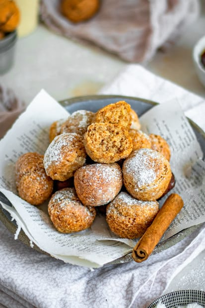 fried and sugared doughnut holes