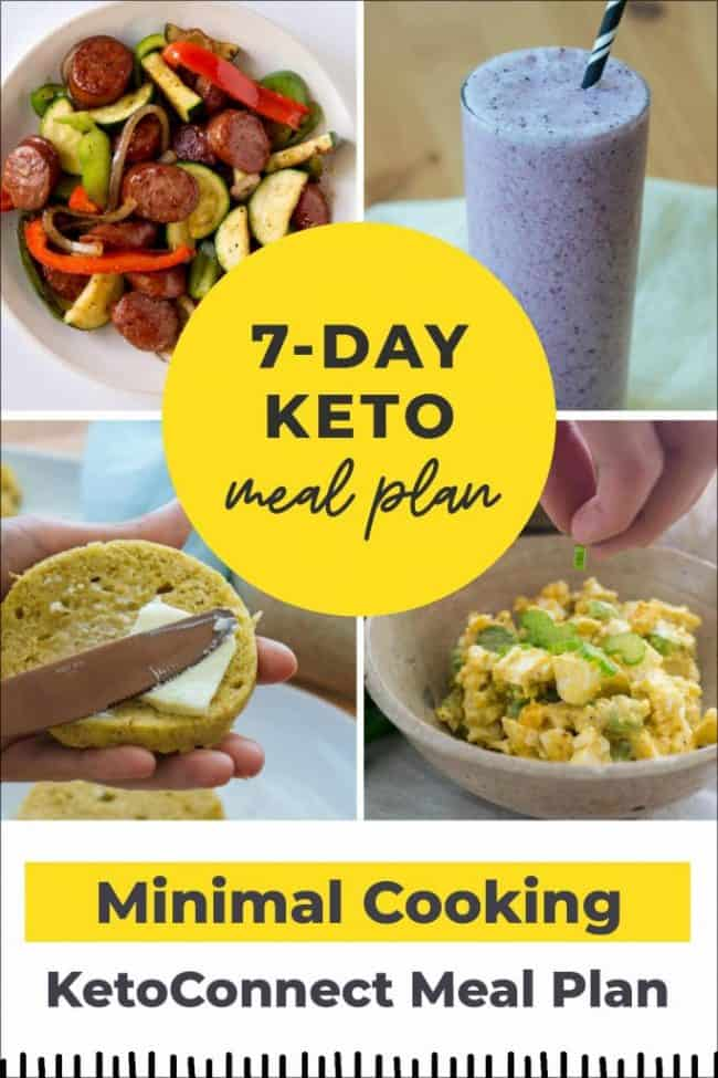 minimal cooking meal plan pin