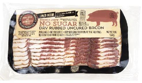 No Sugar Dry Rubbed Uncured Bacon