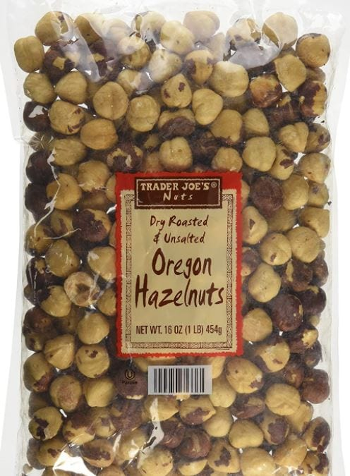 Trader Joe's Dry Roasted and Unsalted Oregon Hazelnuts