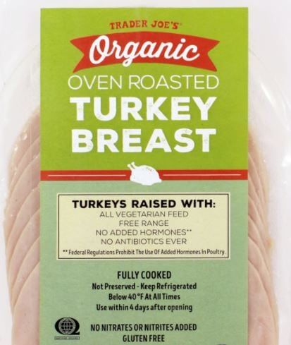 Trader Joe's Organic Oven Roasted Turkey Breast