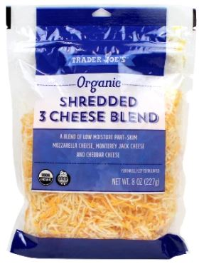 Trader Joe's Organic Shredded Three Cheese Blend
