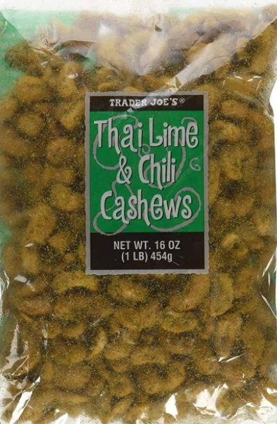 Trader Joe's Thai Lime and Chili Cashews