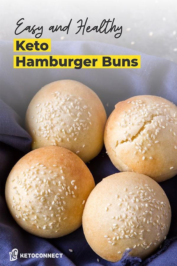 a bread basket full of hamburger buns