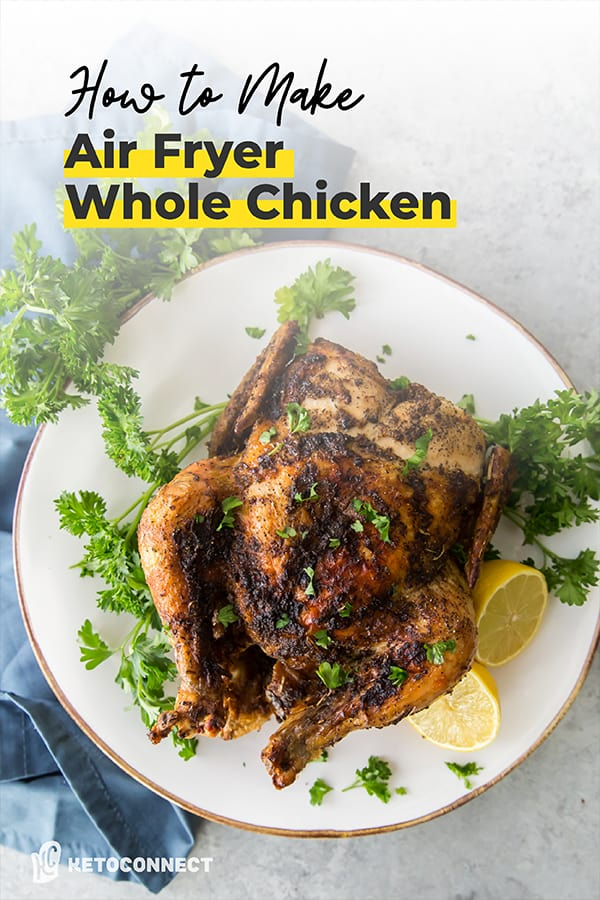 Whole chicken in air fryer pin