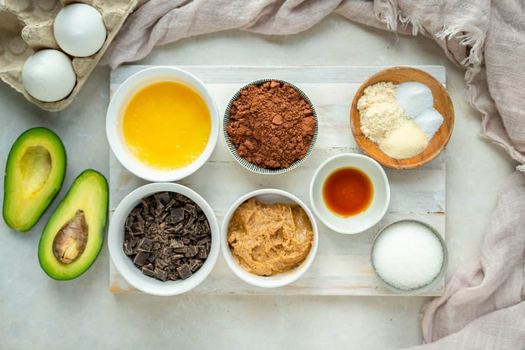 Avocado Brownie Ingredients