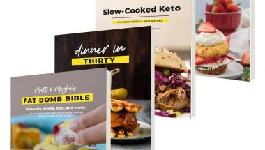 four unique keto recipe cookbooks