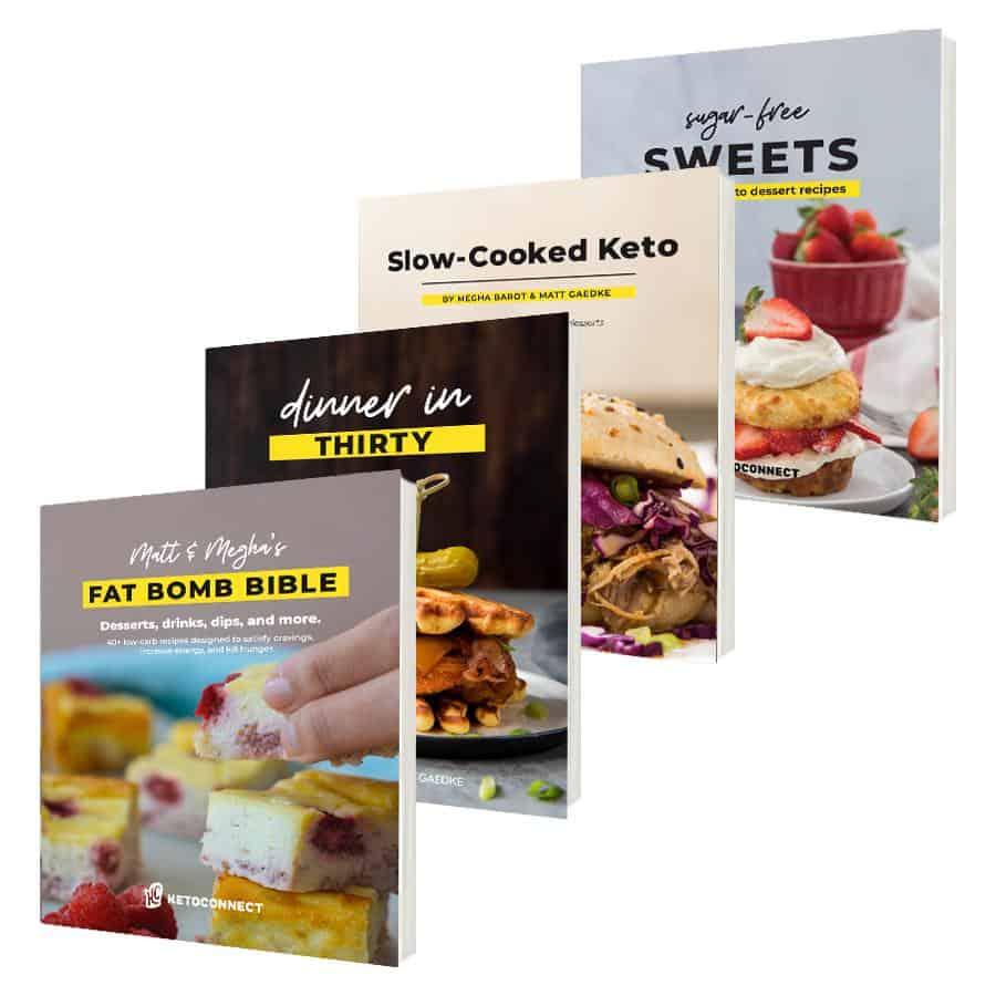 four unique keto recipe cookbooks