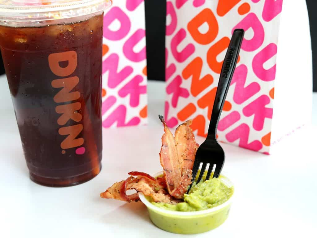 bacon dipped in guacamole from dunkin